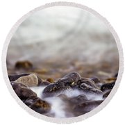 Round Beach Towel featuring the photograph Seashore  by Will Gudgeon