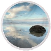 Seaside Dreaming Round Beach Towel