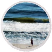 Seaside Fisherman Round Beach Towel