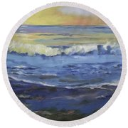 Seaside Round Beach Towel by Mary Hubley