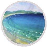 Seaside Memories Round Beach Towel by Chris Hobel