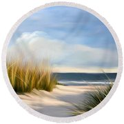 Seaside Path Round Beach Towel
