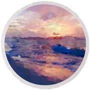 Seaside Swirl Round Beach Towel by Anthony Fishburne