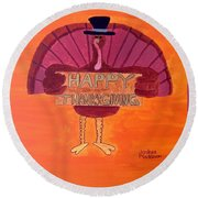 Tradition Holiday Round Beach Towel