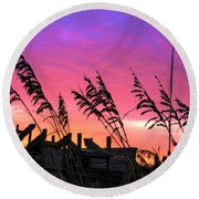 Seasons End II Round Beach Towel