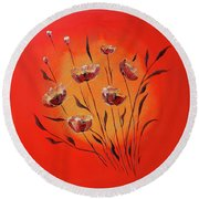 Seasons In The Sun Round Beach Towel