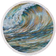 Seaspray Gold Round Beach Towel