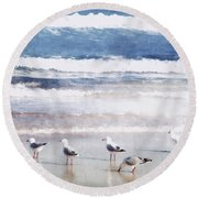 Seaspray Round Beach Towel by Holly Kempe
