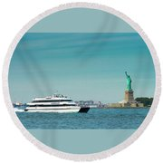 Seastreak Ferry Round Beach Towel