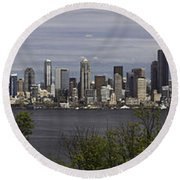 Seattle At Its Best Round Beach Towel by James Heckt