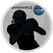 Seattle Seahawks Football Round Beach Towel