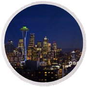Seattle Seahawks Space Needle Round Beach Towel