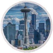 Seattle's Urban Landscape Round Beach Towel