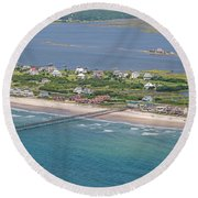 Seaview Fishing Pier Topsail Island Round Beach Towel