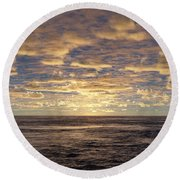 Round Beach Towel featuring the photograph Seaview by Mark Greenberg