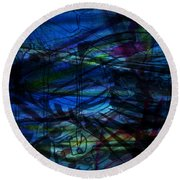 Seaweed And Other Creatures Round Beach Towel