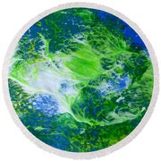 Round Beach Towel featuring the painting Seaweed by Fred Wilson