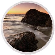 Seaweed Singing Beach Round Beach Towel