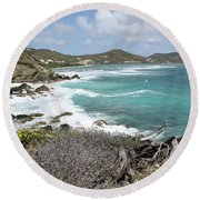Secluded Beach Round Beach Towel