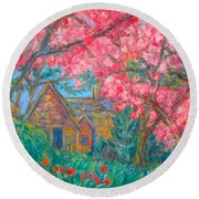 Secluded Home Round Beach Towel