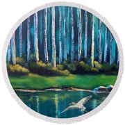 Secluded II Round Beach Towel
