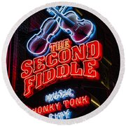 Second Fiddle Round Beach Towel by Stephen Stookey