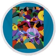 Second Line New Orleans Round Beach Towel