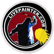 second Official Live Painter Logo  Round Beach Towel