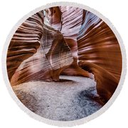 Secret Canyon 3 Round Beach Towel