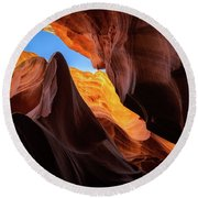 Secret Canyon Round Beach Towel