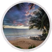 Secret Cove Round Beach Towel by James Roemmling