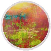 Secret Garden Round Beach Towel