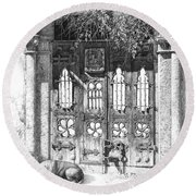 Secret Of The Closed Doors 4 Round Beach Towel by Sergey Gusarin