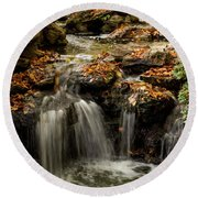 Round Beach Towel featuring the photograph Secret Spot by Iris Greenwell