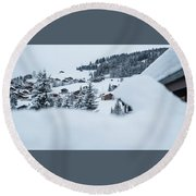Round Beach Towel featuring the photograph Secret View- by JD Mims