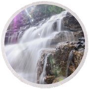 Round Beach Towel featuring the photograph Secret Waters Flow by Margaret Pitcher