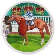 Secretariat Round Beach Towel