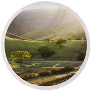 Sedgwick Sunrise Round Beach Towel