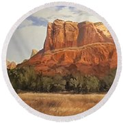 Sedona Afternoon In May Round Beach Towel