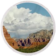 Round Beach Towel featuring the photograph Sedona Arizona by Bill Gallagher