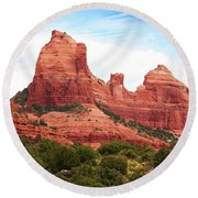 Sedona Arizona Monumental Rocks Round Beach Towel