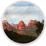 Sedona Arizona Mysterious Landscape Round Beach Towel