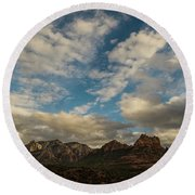 Sedona Arizona Redrock Country Landscape Fx1 Round Beach Towel by David Haskett