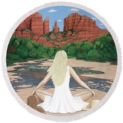 Sedona Breeze  Round Beach Towel