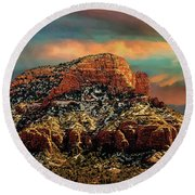 Sedona Dawn Round Beach Towel
