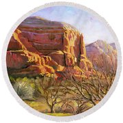 Sedona Morning Round Beach Towel