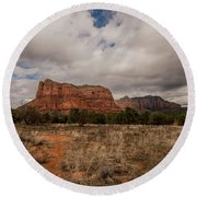 Sedona National Park Arizona Red Rock 2 Round Beach Towel