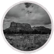 Sedona Red Rock Country Arizona Bnw 0177 Round Beach Towel