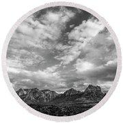 Sedona Red Rock Country Bnw Arizona Landscape 0986 Round Beach Towel by David Haskett