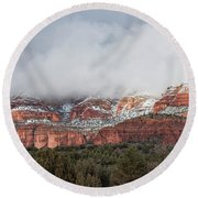 Round Beach Towel featuring the photograph Sedona Revealed by Sandra Bronstein